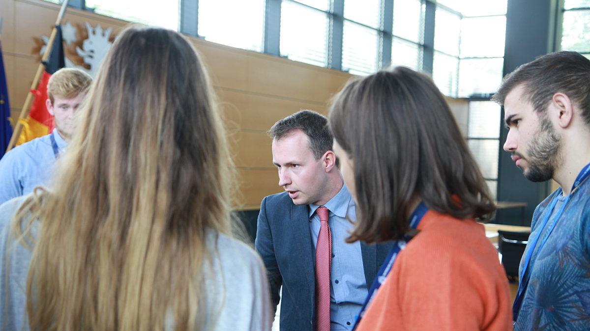 Intarnationaler Austausch im Landtag