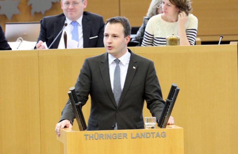 Bühl im Thüringer Landtag