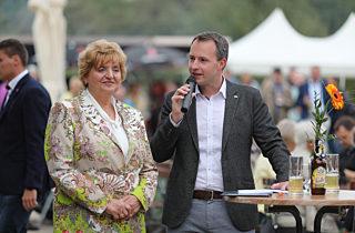 Birgit Diezel und Andreas Bühl beim Sommerfest