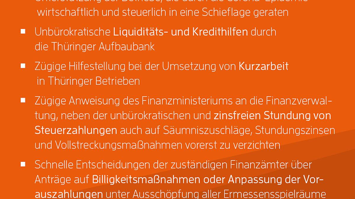 Rettungsschirm der Thüringer Wirtschaft