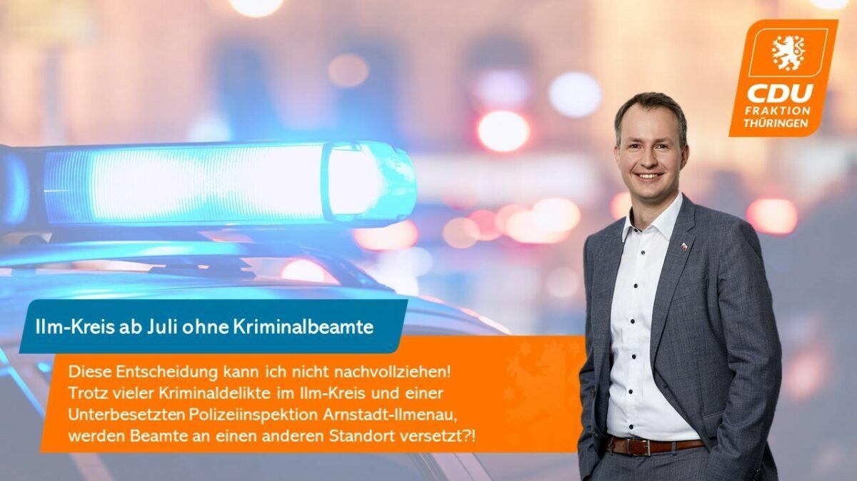 Abzug der Kriminalpolizei aus Arnstadt