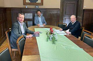 Gespräch im Schloss Arnstadt