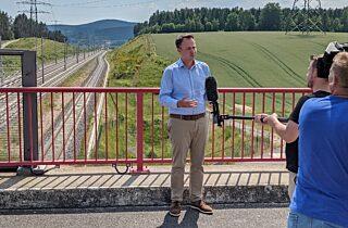 Interview am Bahnhalt Wümbach