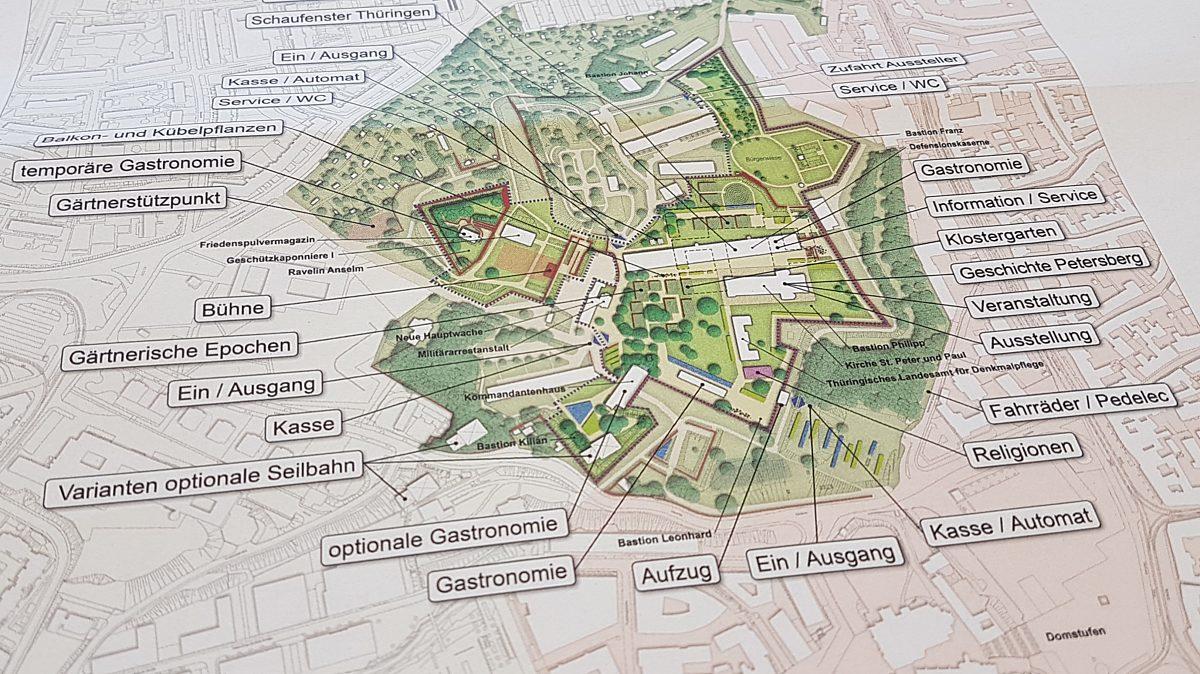 Einst ambitioniert: BuGa-Pläne für den Petersberg; Quelle: SVEF