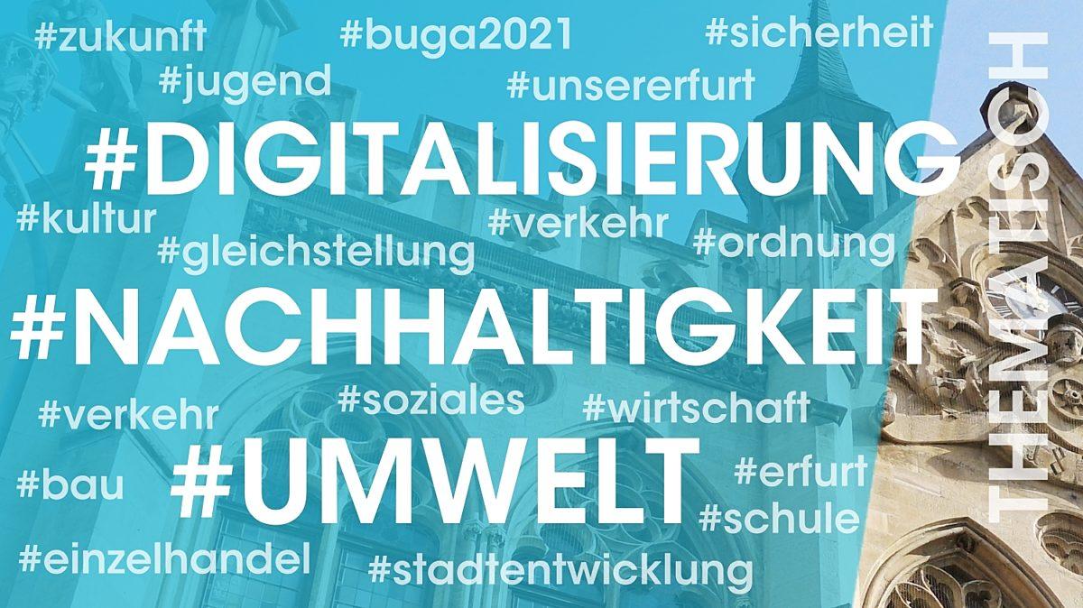 Digitalisierung, Nachhaltigkeit, Umwelt, Integration