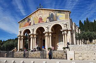 Kirche im Garten aller Nationen im Garten Gethsemane, Israel