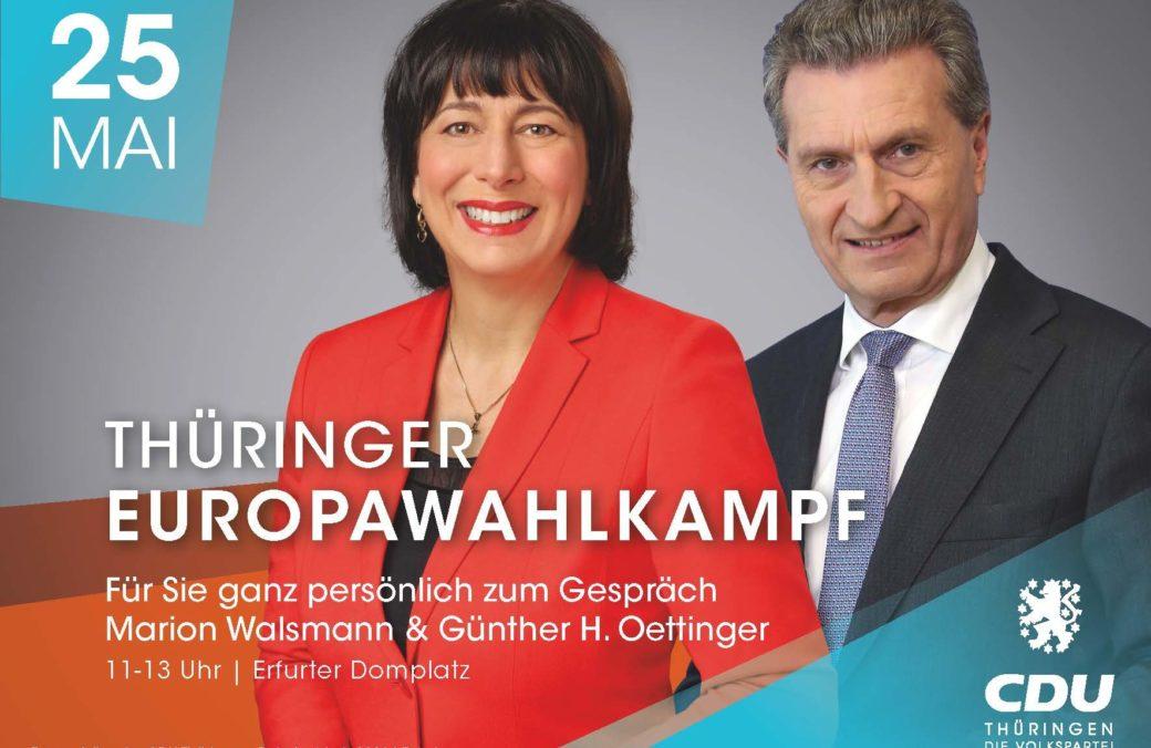 Flyer A6 Quer Europawahlkampfabschluss