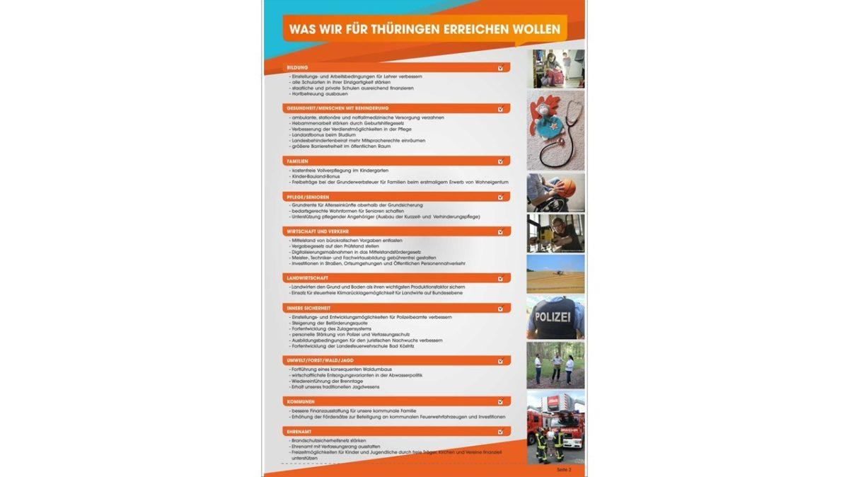 Kandidatenzeitschrift Landtagswahl 2
