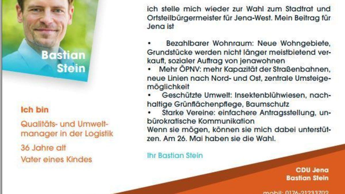 Postkarte Bastian Stein