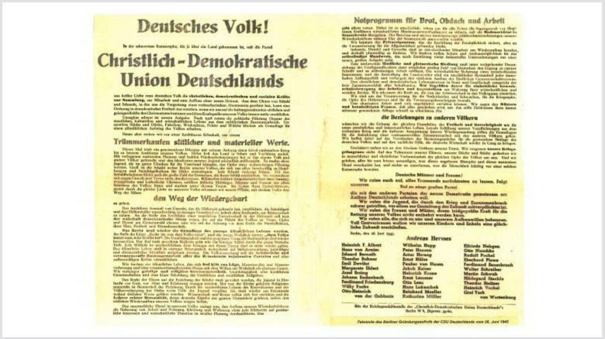75 Jahre CDU