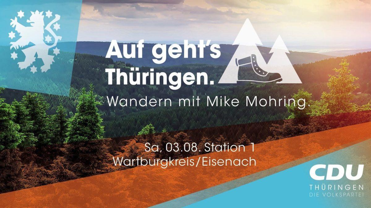 Auf geht's Thüringen. Wandern mit Mike Mohring. Station 1
