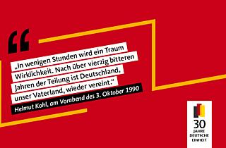30 Jahre Deutsche Einheit Helmut Kohl