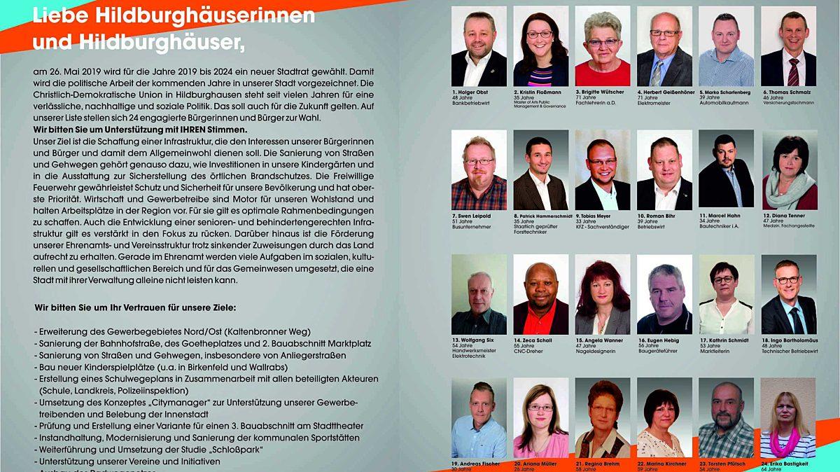 Flyer 1 Stadtratswahl2019