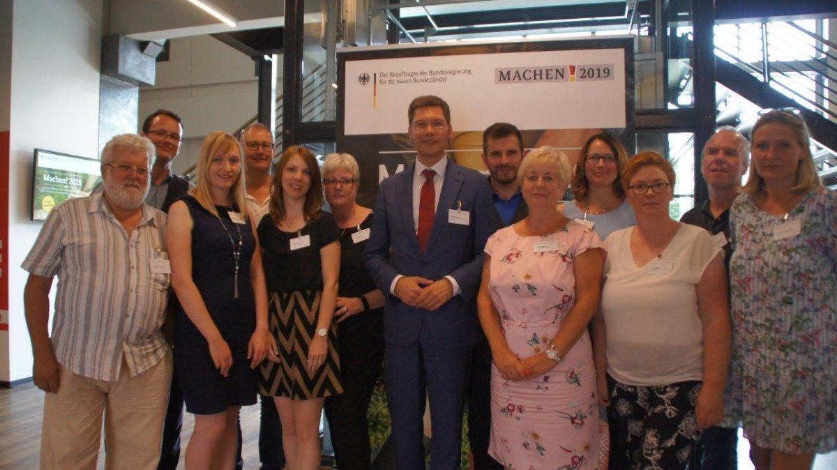 Gruppenbild mit Preisträgern aus dem Wahlkreis 190