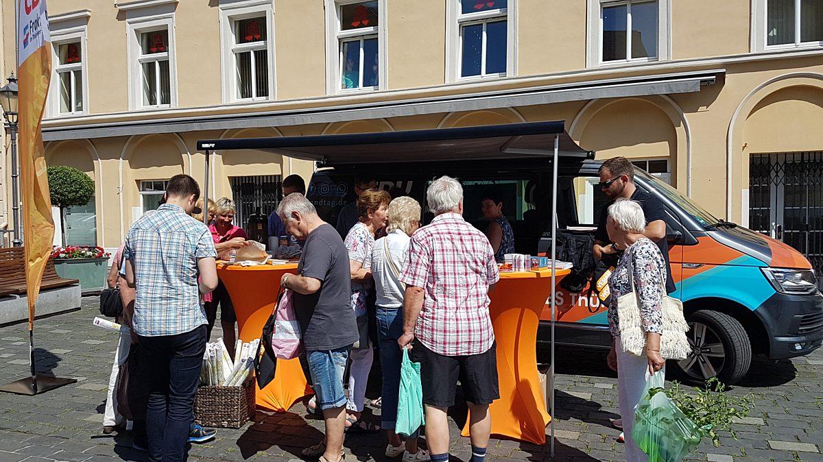 Die Bilanztour der CDU-Landtagsfraktion auf dem Altenburger Markt