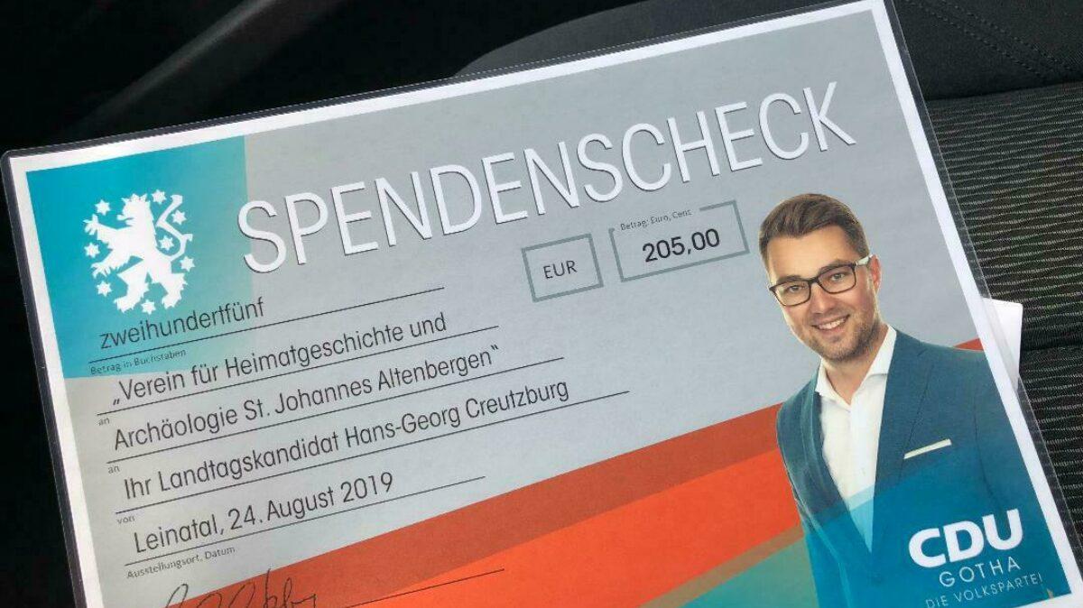 Spendencheck Altenbergen