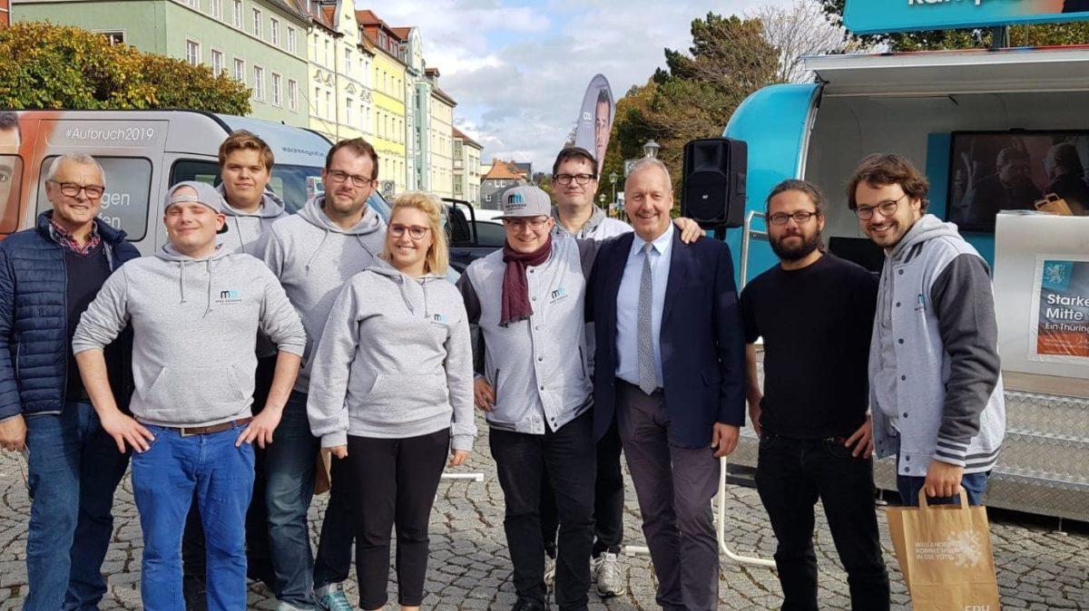 Unterstützerteam am Goetheplatz
