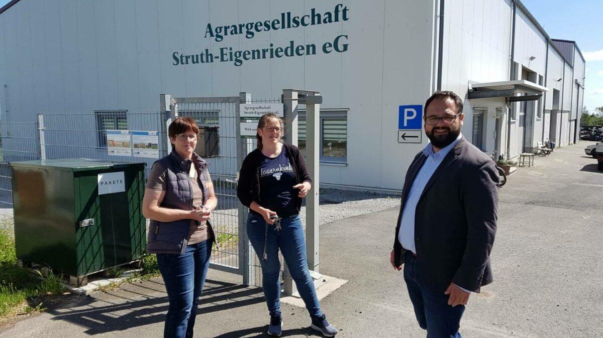 Jonas Urbach Besuch Agrargesells  Eigenrieden 1