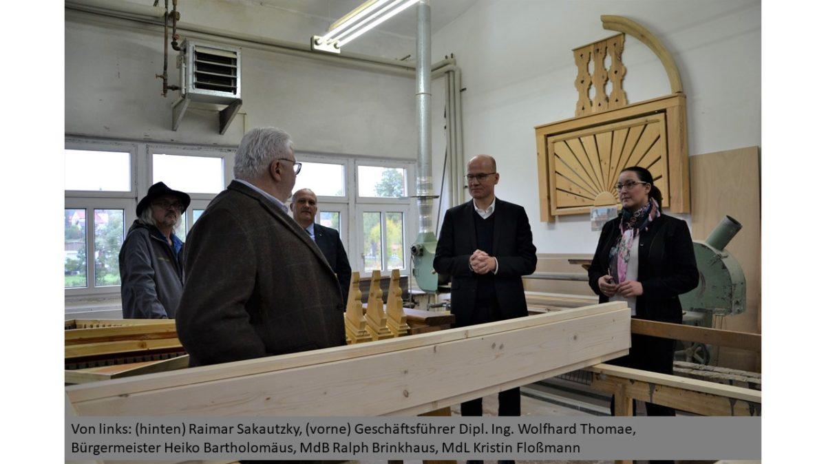 Bild Unternehmensbesuch Holzwerkstaetten Thomae