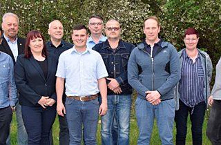 von links nach rechts:  Frank Nagel, Manfred Grob, Marie-Kristin Lange, Horst Böhnke, Dominik Schulz, Matthias Wohlfahrt, Mario Göbel, Stafan Kirschke, Evolin Fack, Annett Sachs. Es fehlen Marcel Meiß und Peter Neumann.