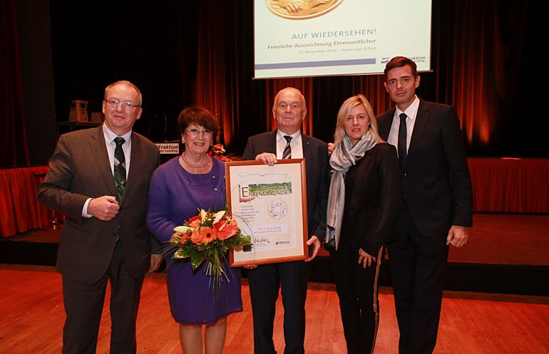 Auszeichnung im Erfurter Kaisersaal