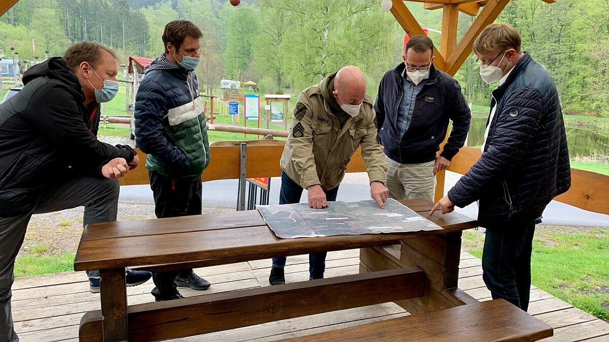 V.l.: Steffen Otto, Tobias Hill, Burkhard Seifert, Martin Henkel, Heiko Pagel.