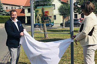 Einweihung Feininger Tafel In Mellingen 20 07 2020