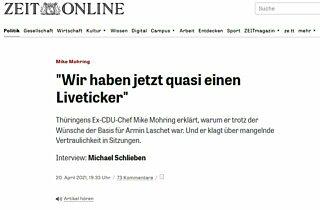 Zeit Online 20 04 2021