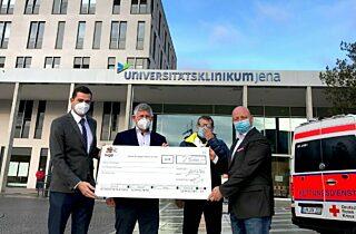 Scheckuebergabe Krebsforschung Jena 22 12 2020