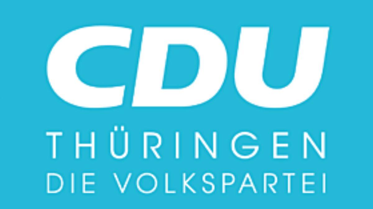 Logo Cdu Thueringen Quer Weiss Blau